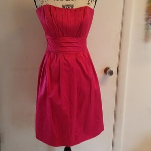 NWT David's Bridal Ruched Watermelon Dress